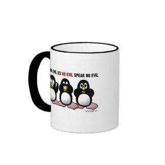 3 pingüinos sabios taza a dos colores