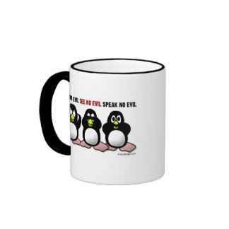 3 pingüinos sabios taza de café