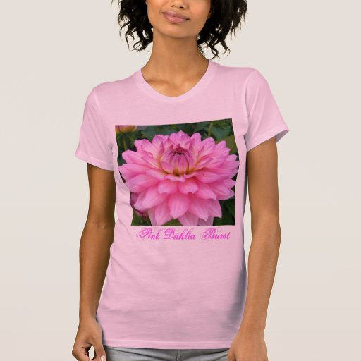 3 Pink Dahlia Burst T Shirt