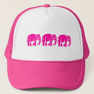 3 Pink Elephants ⚠ Thai Road Sign ⚠ Trucker Hat