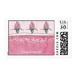 3 Pink Roses :: Blossom Postage
