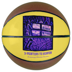 3-pointers To Heaven Basketball at Zazzle