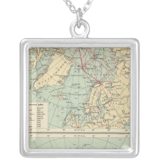 3 Polar Lands Silver Plated Necklace