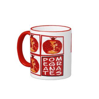3 Pomegranate slices Art Deco Ringer Coffee Mug
