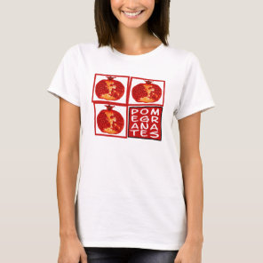 3 pomegranates art deco T-Shirt