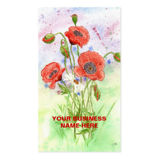 '3 Poppies' Business Card