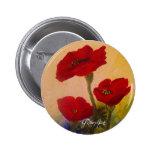 3 Poppies Button