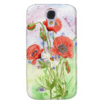 '3 Poppies' iPhone 3G Case Galaxy S4 Case