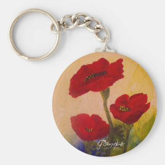 3 Poppies Keychain