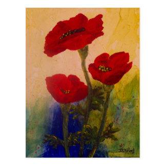 3 Poppies Postcards