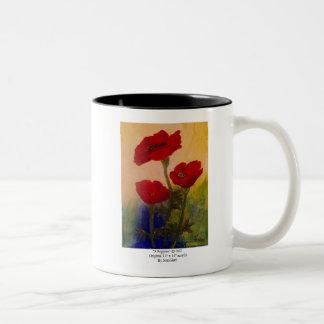 3 Poppies Two-Tone Coffee Mug