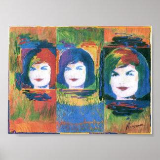 3 posters de la pintura de Jackie Kennedy