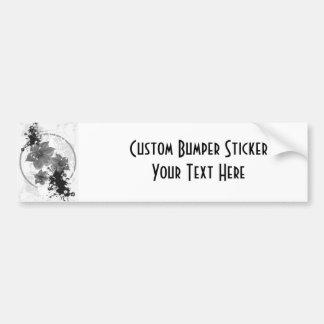 3 Pretty Flowers - B&W Infrared Car Bumper Sticker