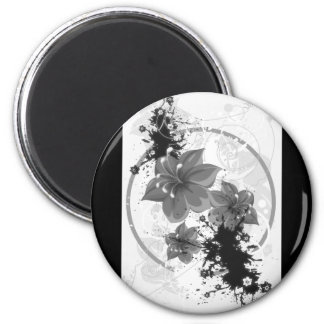 3 Pretty Flowers - B&W Infrared Magnet