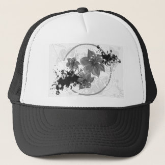 3 Pretty Flowers - B&W Infrared Trucker Hat