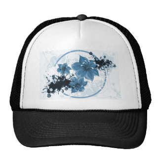 3 Pretty Flowers - Blue Trucker Hat