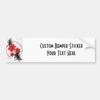 3 Pretty Flowers - Color Bumper Sticker