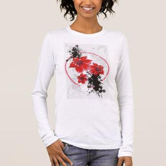 3 Pretty Flowers - Color Long Sleeve T-Shirt