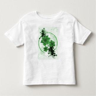 3 Pretty Flowers - Green Toddler T-shirt