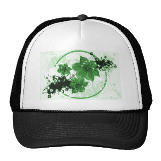 3 Pretty Flowers - Green Trucker Hat