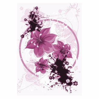 3 Pretty Flowers - Pink Cutout