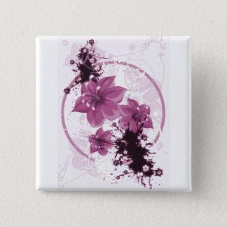 3 Pretty Flowers - Pink Pinback Button