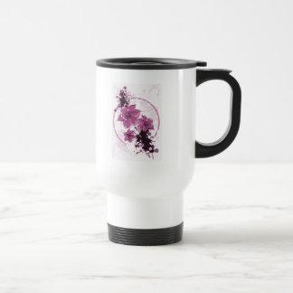 3 Pretty Flowers - Pink Travel Mug
