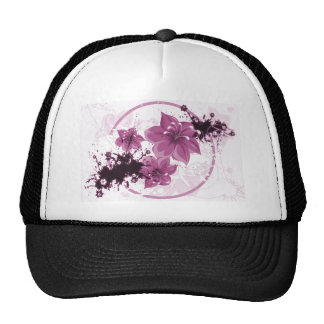 3 Pretty Flowers - Pink Trucker Hat