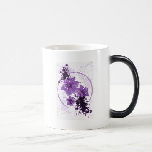 3 Pretty Flowers - Purple 11 Oz Magic Heat Color-Changing Coffee Mug