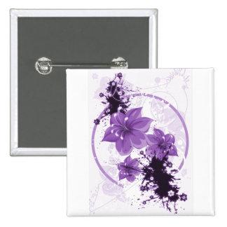 3 Pretty Flowers - Purple Pins