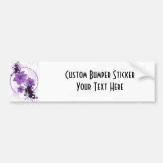 3 Pretty Flowers - Purple Car Bumper Sticker