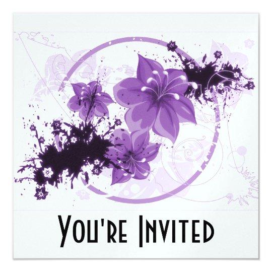 3 Pretty Flowers - Purple Card