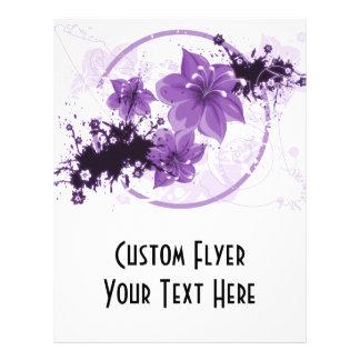 3 Pretty Flowers - Purple Flyer