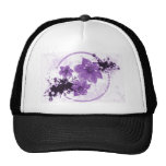 3 Pretty Flowers - Purple Hats