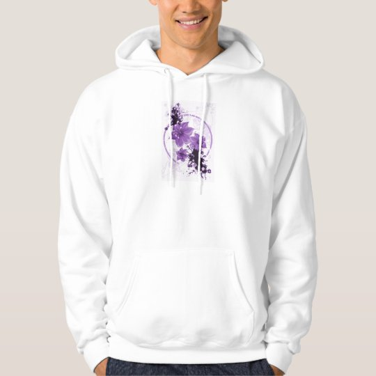 3 Pretty Flowers - Purple Hoodie