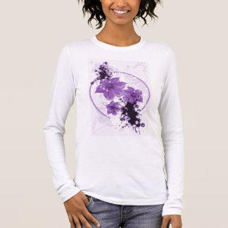 3 Pretty Flowers - Purple Long Sleeve T-Shirt