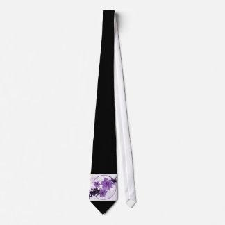 3 Pretty Flowers - Purple Neck Tie