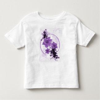 3 Pretty Flowers - Purple Toddler T-shirt