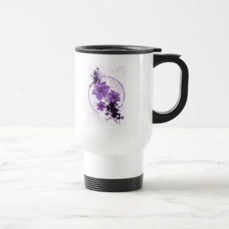 3 Pretty Flowers - Purple Travel Mug
