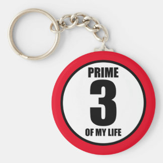 3 - prime of my life keychain