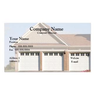 3 puertas del garaje en casa plantilla de tarjeta de negocio