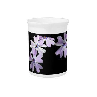 3 Purple Flowers Drink Pitcher