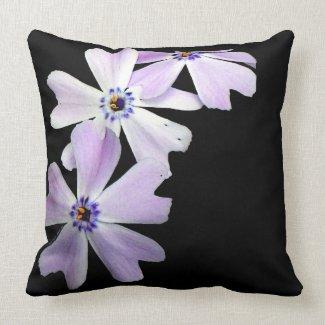 3 Purple Flowers Pillow
