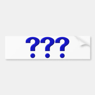 3 Question Marks Bumper Stickers