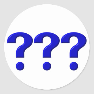 3 Question Marks Classic Round Sticker