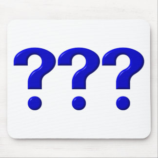 3 Question Marks Mouse Pad