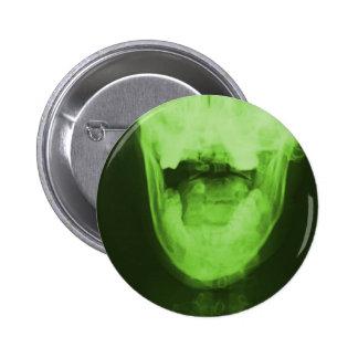 3 radiografiados - Verde radiactivo Pin