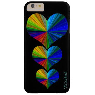 3 Rainbow Hearts Barely There iPhone 6 Plus Case