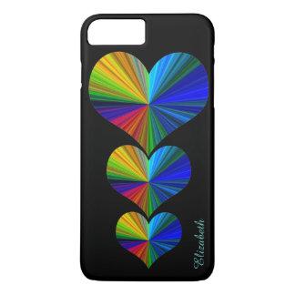 3 Rainbow Hearts iPhone 8 Plus/7 Plus Case