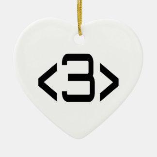<3> Reciprocated Love - Internet Meme Heart Ceramic Ornament